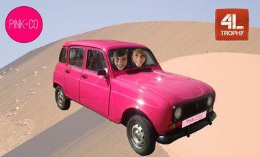 Project visual Les Pink-Co ont leur auto il faut maintenant soigner ses bobos ! (4L trophy)