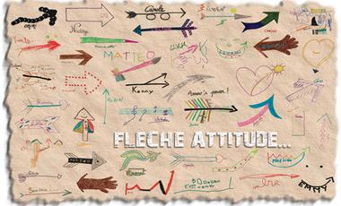 """Project visual Pour être Happy """"adoptez la flèche attitude"""" !!!"""