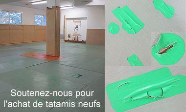 Project visual Aidez-nous à financer des tatamis neufs pour le dojo
