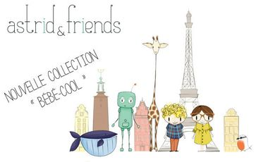 "Visueel van project Astrid & Friends collection ""bébé-cool""."