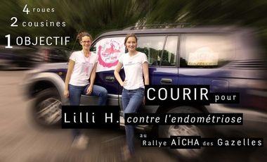 Project visual Les Echappées courent pour Lilli H. contre l'endométriose au Rallye Aïcha des Gazelles