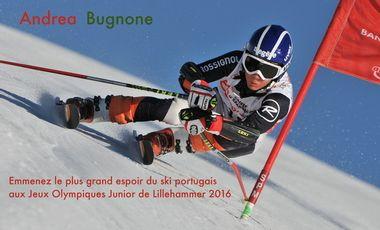 Visueel van project Un skieur Portugais aux Jeux Olympiques