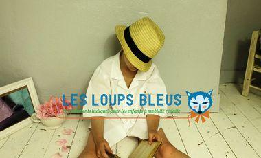 Visuel du projet Les Loups Bleus, première marque de vêtements funs pour les adolescents et les enfants handys.