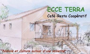 """Visueel van project ECCE TERRA - Café-Resto Coopératif """"Réunir Nature et Culture autour d'une assiette"""""""