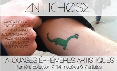 Visuel du projet ☞ Antichose ☜  Une Collection de Tatouages Artistiques Ephémères ✌