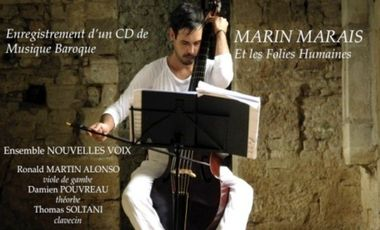 "Visueel van project Enregistrement de musique baroque ""Marin Marais et les Folies Humaines"""