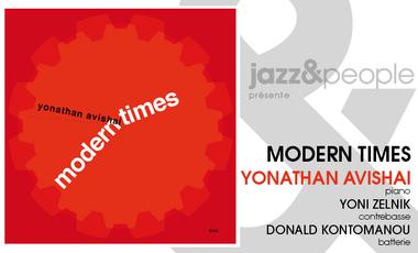 "Visueel van project Yonathan Avishai ""Modern Times"" Trio"