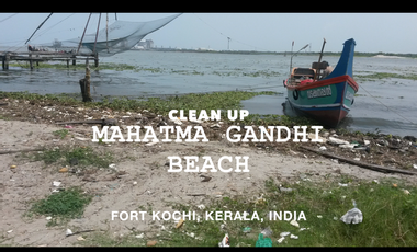 Project visual Fort Kochi, India : Clean up Mahatma Gandhi Beach/Nettoyer la plage Mahatma Gandhi !