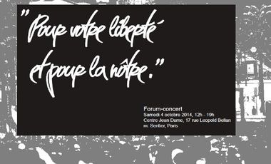 Project visual Forum – Concert «Pour votre liberté et pour la nôtre»