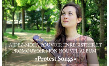 Visuel du projet Protest Songs - Deuxième album de Laetitia A'Zou qui revient aux origines de la Folk