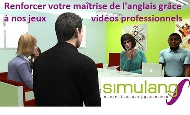 Visueel van project Serious Games pour l'Anglais Professionnel