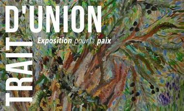 Project visual Exposition pour la paix Trait d'Union