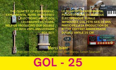 Visuel du projet GOL - disque 25 ème anniversaire / 25th anniversary record