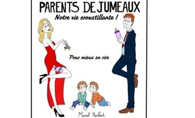 """Visuel du projet Livre """"PARENTS DE JUMEAUX, notre vie croustillante"""""""
