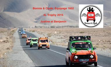Visuel du projet Bonnie & Clyde au 4L Trophy 2015