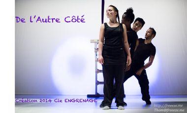 Visuel du projet De l'Autre Côté, pièce pour 3 danseurs hip hop et 1 circassien