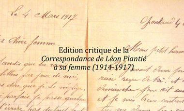 Visuel du projet Edition critique de la Correspondance de Léon Plantié à sa femme (1914-1917)
