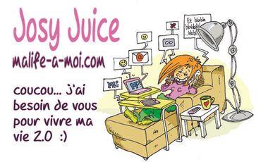 """Visueel van project Josy Juice """"malifeamoi.com"""""""