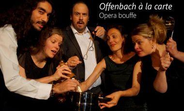 """Visuel du projet """"Offenbach à la carte"""", la nouvelle création de  la Compagnie L'échappée"""