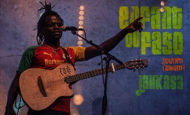 """Visueel van project Jahkasa - Enregistrement de l'album  """"Enfant du Faso"""""""