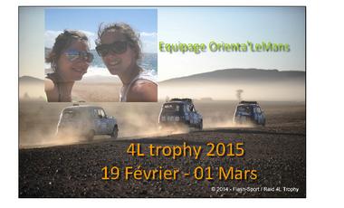 Visueel van project Equipage Orienta'LeMans - 4L Trophy 2015