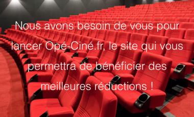 Project visual Opé-Ciné.fr : Des places de cinéma moins chères, un accord gagnant-gagnant !