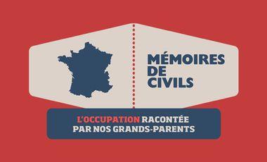 Visueel van project Mémoires de Civils - l'occupation racontée par vos grands-parents