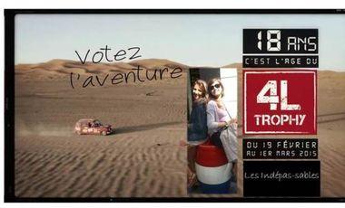 Project visual Les Indépas-sables au 4L Trophy