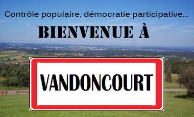 Visueel van project Contrôle populaire, démocratie participative... Bienvenue à Vandoncourt !