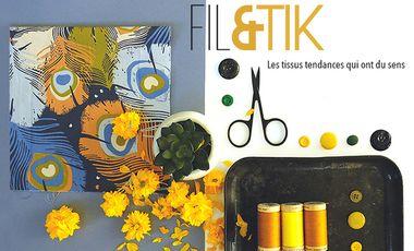 Project visual Fil Etik: jolis tissus bio et éthiques