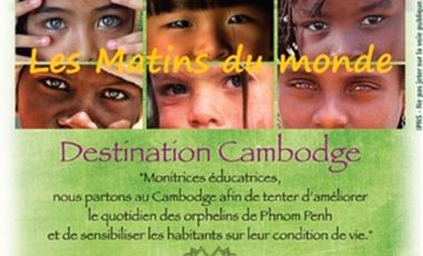 """Project visual """"Les matins du monde"""" en route pour tenter d'améliorer le quotidien des enfants de Phnom Penh"""