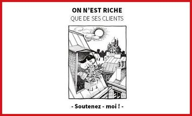"""Visuel du projet """"On n'est riche que de ses clients"""" : 18 histoires extraordinaires de vies ordinaires dans le 18ème."""