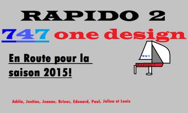 Visuel du projet Rapido 2 en route pour la saison 2015