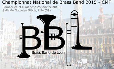 Visueel van project Brass Band de Lyon au Championnat National de Brass Band 2015 à Lille !