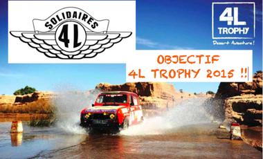 Visuel du projet 4 ailes solidaires : objectif 4L Trophy 2015 !!!!