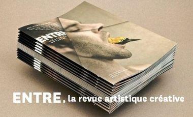 Visueel van project ENTRE, la revue artistique créative