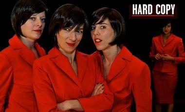 """Visueel van project """"Hard Copy"""" d'Isabelle Sorente, un spectacle de la Compagnie Querelle"""