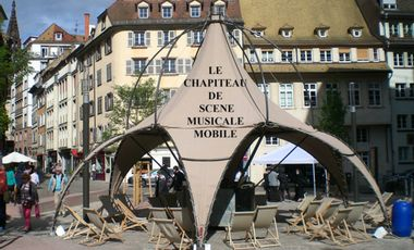 Project visual Le Chapiteau de Scène Musicale Mobile
