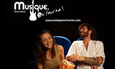 """Visueel van project """"Musique, On tourne!"""", le festival de Musique et Cinéma"""
