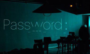 Visueel van project PASSWORD : ... - - - ... (s.o.s)