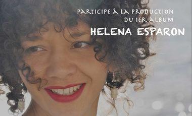 Visueel van project Héléna Esparon, enregistrement du premier album
