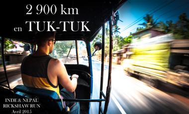 Visueel van project 2 900 km en tuk-tuk à travers l'Inde et le Népal.