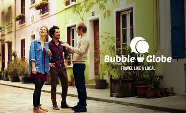 Visuel du projet Bubble Globe, Travel like a local