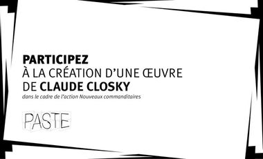 "Project visual ""Rectangulaire"" de Claude Closky"