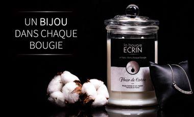 Visueel van project La Bougie Ecrin : un bijou dans chaque bougie !