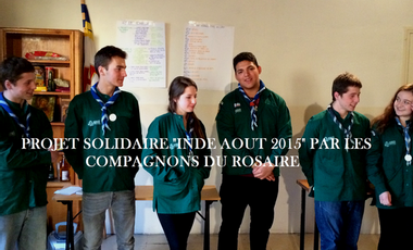 Project visual Projet solidaire en Inde des Compagnons du Rosaire
