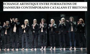 Project visual Echange artistique entre formations de danseurs contemporains catalans et bretons
