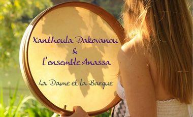"""Visueel van project """"La Dame et la Barque"""" - Album de Xanthoula Dakovanou et l'ensemle ANASSA"""