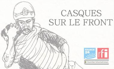 Visuel du projet Casques sur le front, le webdoc
