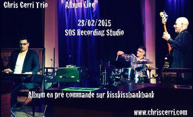 Visuel du projet Chris Cerri Trio-Album Live